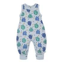 Finn + Emma Organic Cotton Sleeveless Baby Jumpsuit - Monsters, 0-6 Months