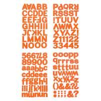 Darice Orange, Large Block Font Letter Stickers, 160 pc