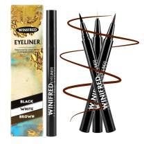 Winifred Liquid Eyeliner Pencil White Black Brown Color Eye Liner for Women Waterproof Makeup Eyeliner Pen 3 Pcs