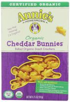Annie's Organic Cheddar Bunnies, Baked Snack Crackers, 6.75 oz Box (Pack of 6)