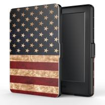 MoKo Case for Kindle E-reader (8th Generation 2016) - The Thinnest and Lightest  Cover with Auto Wake/Sleep for Amazon Kindle (6 Display, 8th Gen 2016 Release), US Flag