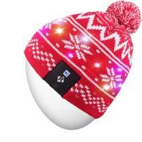 Rotibox Unisex Stylish LED Light Up Beanie Hat Knit Cap Outdoor Sport