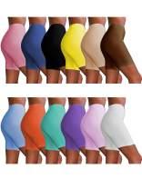Sexy Basics Womens 12 Pack Sheer & Sexy Cotton Spandex Boyshort Yoga Slip-Short Boxer-Briefs