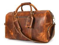 Leather Travel Duffle Bag | Gym Sports Bag Airplane Luggage Carry-On Bag | Gift for Father's Day By Aaron Leather