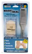 Magic Heal Cracked Heel Repair Kit with 2 Ounce No Mess Stick Applicator Foot Cream for Dry Cracked Heels and Foot Filer - Intensive Foot Repair Therapy Cream to Soothe & Moisturize Painful Dry Skin