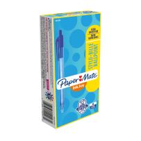 Paper Mate InkJoy 100RT Retractable Ballpoint Pens, Medium Point, Blue, Box of 12 (1951253), 12 Count