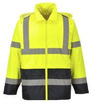 Portwest Hi-Vis Contrast Rain Jacket Viz Safety Visability Work Rain ANSI 3