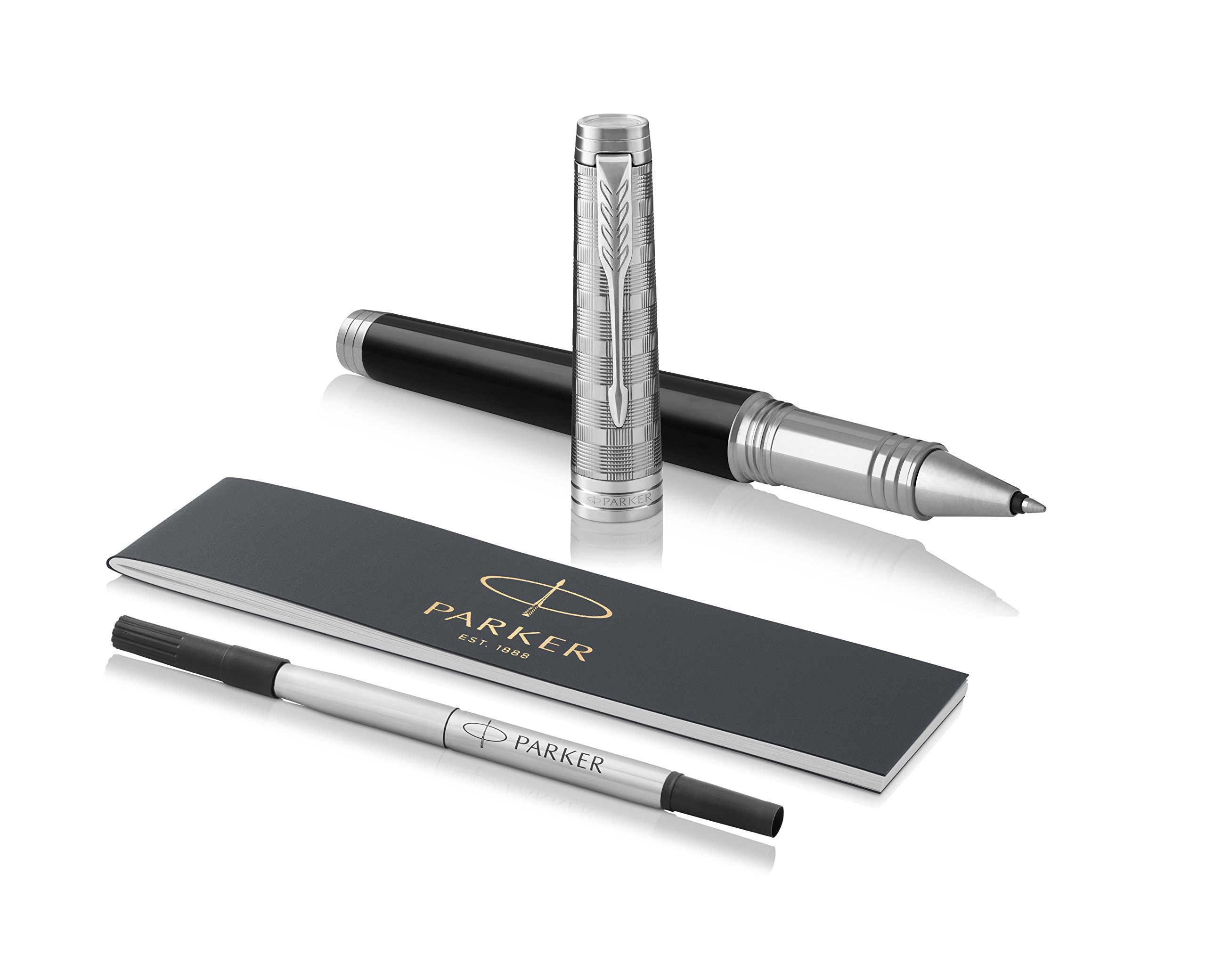 PARKER Premier Rollerball Pen, Custom Tartan Lacquer and Metal with Fine Point Black Ink Refill