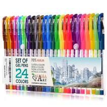 Color Gel Pens - Gel Pens for Kids - Coloring Pens - Gel Pens Set - Pen Sets for Girls - Spirograph Pens - Pen Art Set - Artist Gel Pens - Sparkle Pens for Kids - 24 Gel Pens - Arts Pens