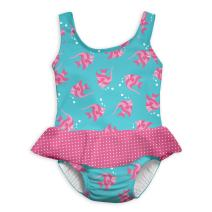 i play. by green sprouts One-piece Swimsuit w/ Built in Reusable Swim Diaper | Helps provide secure protection for babies & swimmers