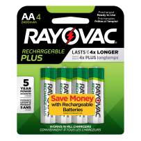 Rayovac Rechargeable AA Batteries, High Capacity Rechargeable Plus AA Batteries (4 Count)