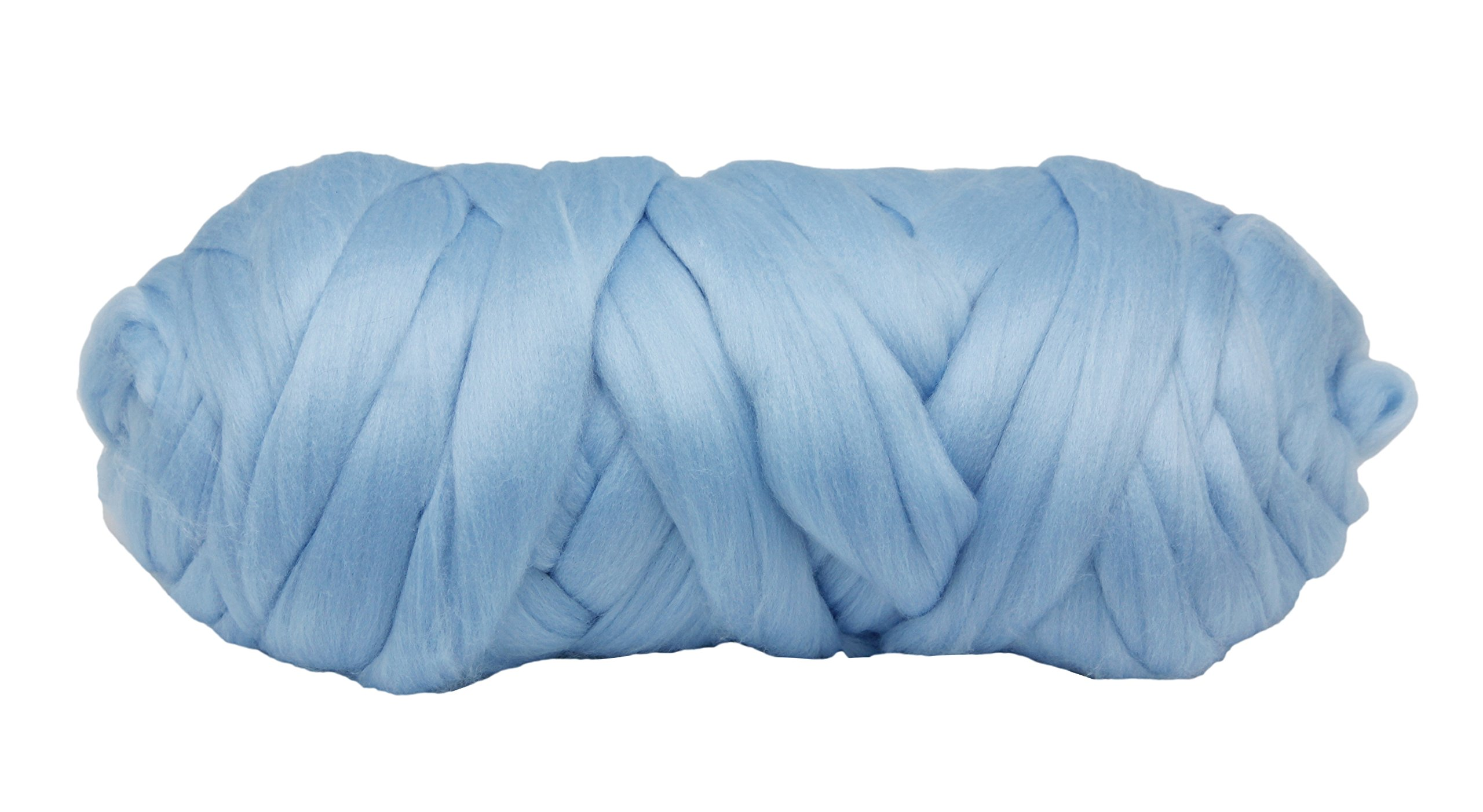 Giant Super Chunky Yarn Polyester-2.2 lbs (44 Yards) Bulky Roving Solid Color Yarn