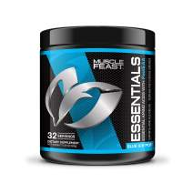 MUSCLE FEAST Essential Amino Acid Powder, Keto Friendly, Sugar Free, Post Workout Recovery and Intra-Training Drink (300 Gram, Blue Ice Pop)