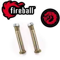 Fireball Dragon Skateboard Kingpin & Nut Set | for Skateboard & Longboard Trucks | Comes with The Beast Guarantee (Kingpin & Nut - 2X)