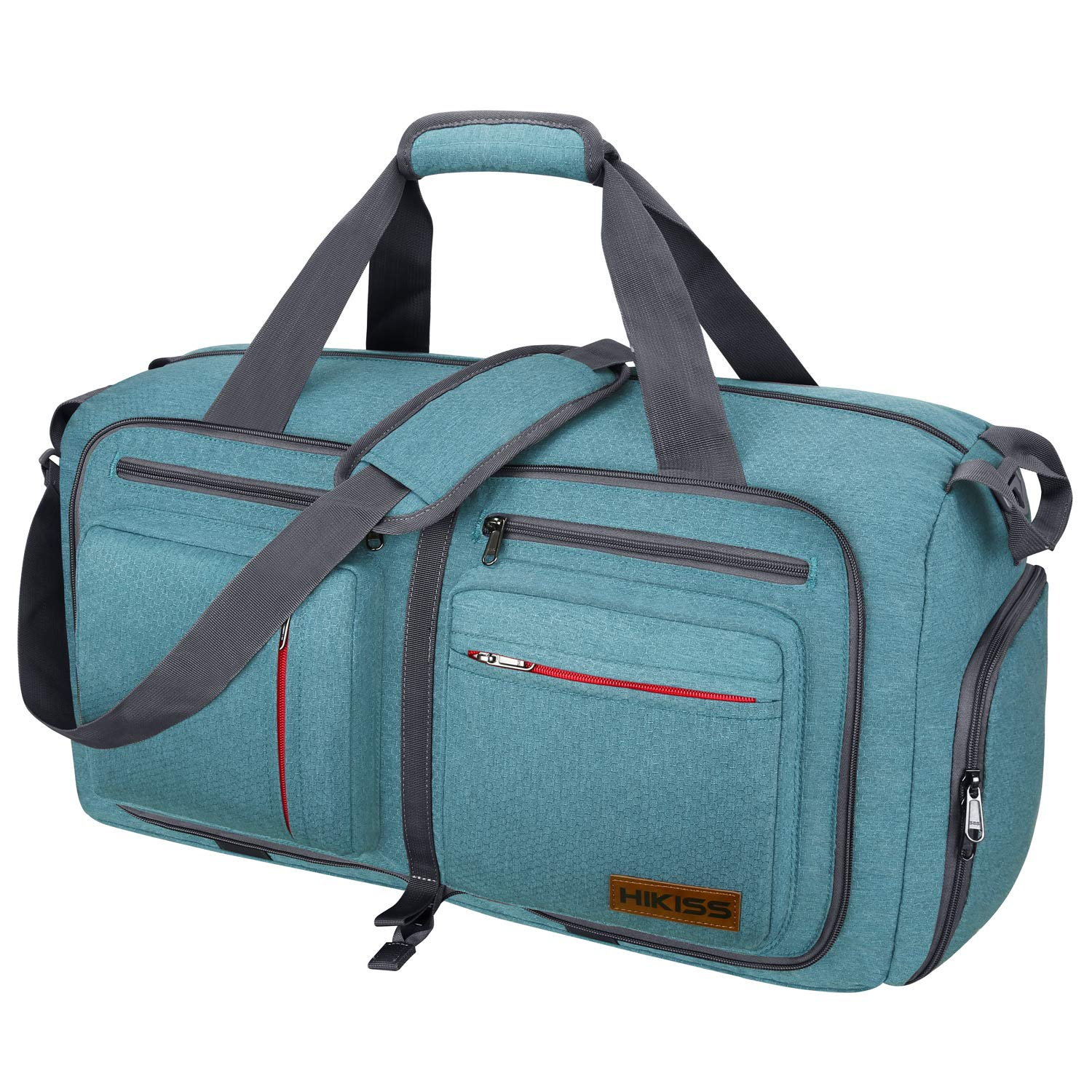 Travel Duffel Bag, 115L Packable Duffle Bag with Shoes Compartment Foldable Weekender Bag for Men Women Water-proof & Tear Resistant HIKISS-Green