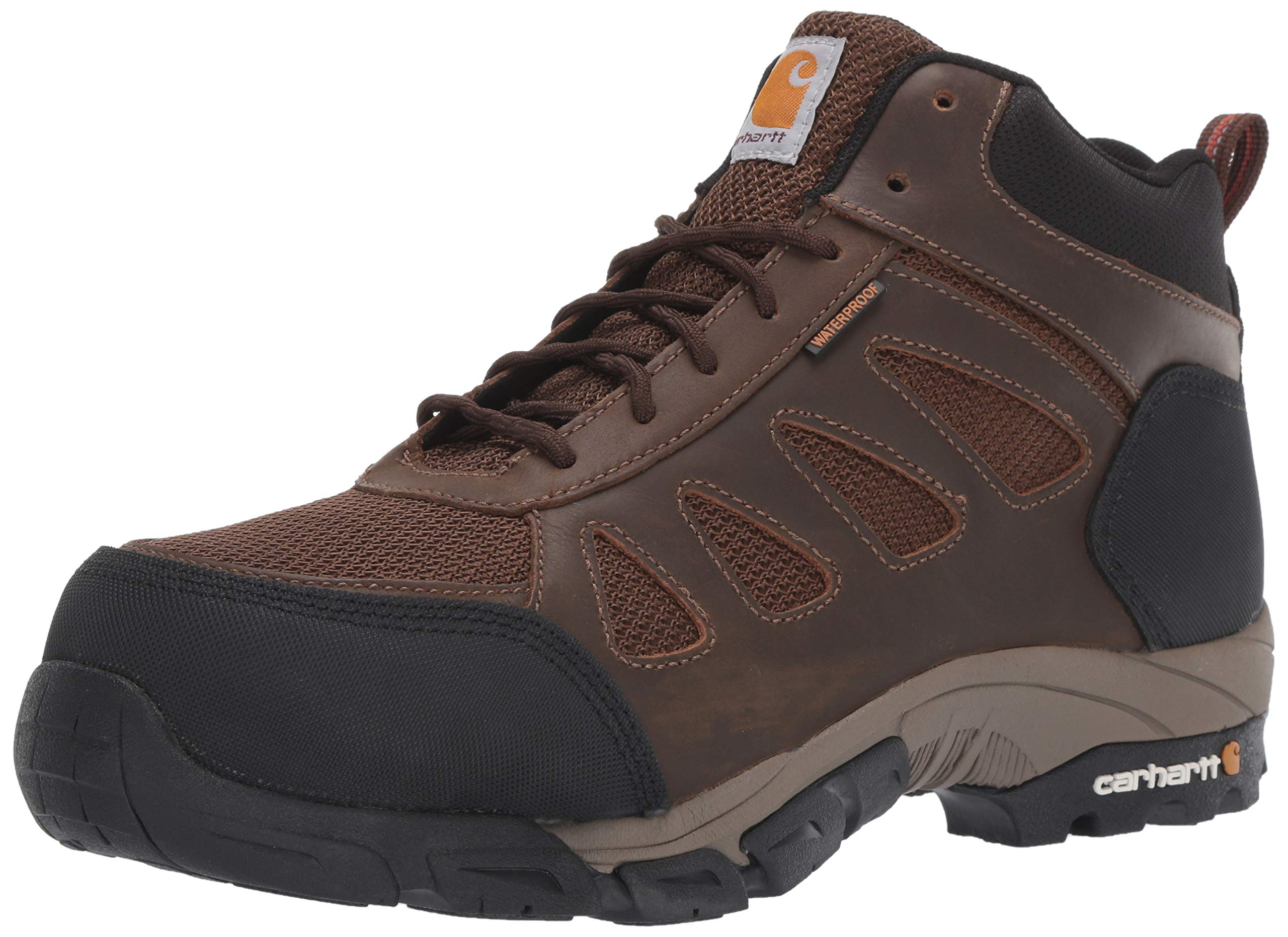Carhartt Men's Lightweight Wtrprf Mid-Height Work Hiker Carbon Nano Safety Toe Cmh4480 Industrial Boot