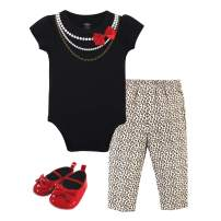 Little Treasure Unisex Baby Cotton Bodysuit, Pant and Shoe Set