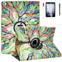 NEWQIANG iPad 5th 6th Generation Case - iPad 9.7 inch Air1 2018 2017 Cover - 360 Degree Rotating Stand, Auto Sleep Wake - A1822 A1823 A1474 A1475 MR7F2LL/A MR7F2LL/A MD785LL (LoveTree)