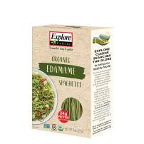 Explore Cuisine Organic Edamame Spaghetti (4 Pack) - 8 oz - High Protein, Gluten Free Pasta, Easy to Make - USDA Certified Organic, Vegan, Kosher, Non GMO - 16 Total Servings