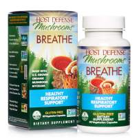 Host Defense, Breathe, 60 Capsules, Respiratory Support, Mushroom Supplement with Cordyceps, Reishi and Chaga, Vegan, Organic, 30 Servings