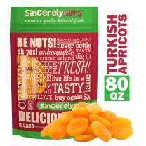 Sincerely Nuts - Dried Turkish Apricots | Five Lb. Bag | Healthy Pitted Apricot Fruit | Raw Vegan Snack | Dehydrated | Sweet Gourmet Snacking Food | Kosher and Gluten Free