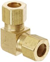 "EATON Weatherhead 65X6 Union Elbow, CA360 Brass, 3/8"" Tube OD"