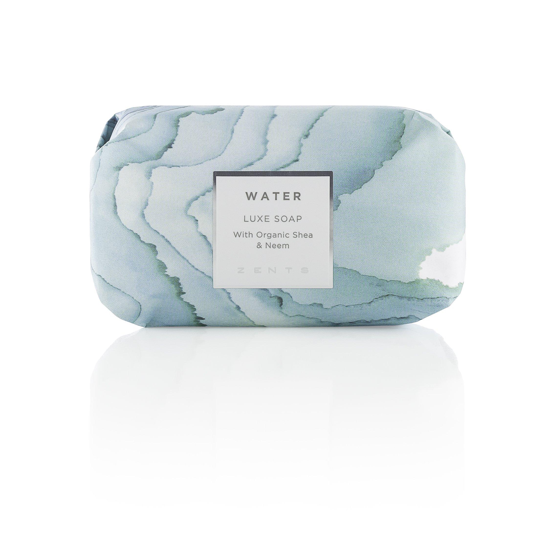 Zents Luxe Moisturizing Soap Bar, Triple Milled Shea Butter & Coconut Oil, Body & Hand, 5.7 oz (Water)