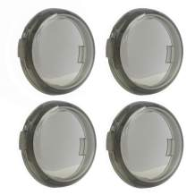 Smoke Turn Signal Light Lens Cover Smoked Front Rear Bullet Lense Kit for Harley XL883N, XL1200CX, XL1200N, XL1200T XL1200X 2008-later, XL1200C 2011-later (4 PCS)