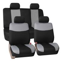 FH Group FB056GRAY114 Full Set Seat Cover (Universal Fit Modern Flat Cloth Gray)