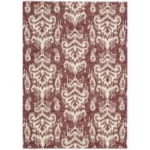 """Nourison Bbl10 Kaleidoscope Crimson Rectangle Area Rug, 5-Feet 3-Inches by 7-Feet 5-Inches (5'3"""" x 7'5"""")"""