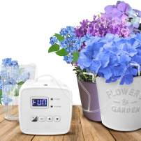 Automatic Watering System,DIY Micro Drip Irrigation Kit,Houseplants Cultivation Device with Digital Interval Programmable Timer,Power Adapter or Battery Operation for Indoor 10 Potted(Single Pump)