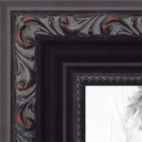 ArtToFrames 24x30 inch Black with Beads Wood Picture Frame, WOMD10188-24x30