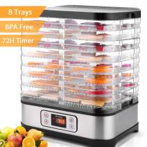 Electric Food Dehydrator Machine 8 Trays 400W Digital Food Dryer with Timer, Temperature Control, BPA Free, LCD Display Screen