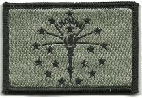 Tactical State Patch - Indiana - ACU/Silver