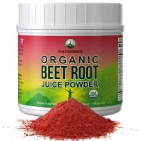 Organic Beet Root Powder - Highest Quality Super Food Beets Juice Powder. 100% Pure Organic Nitric Oxide Boosting Beetroot Supplement. Keto, Paleo, Vegan Organic Reds Superfood Rich in Polyphenols
