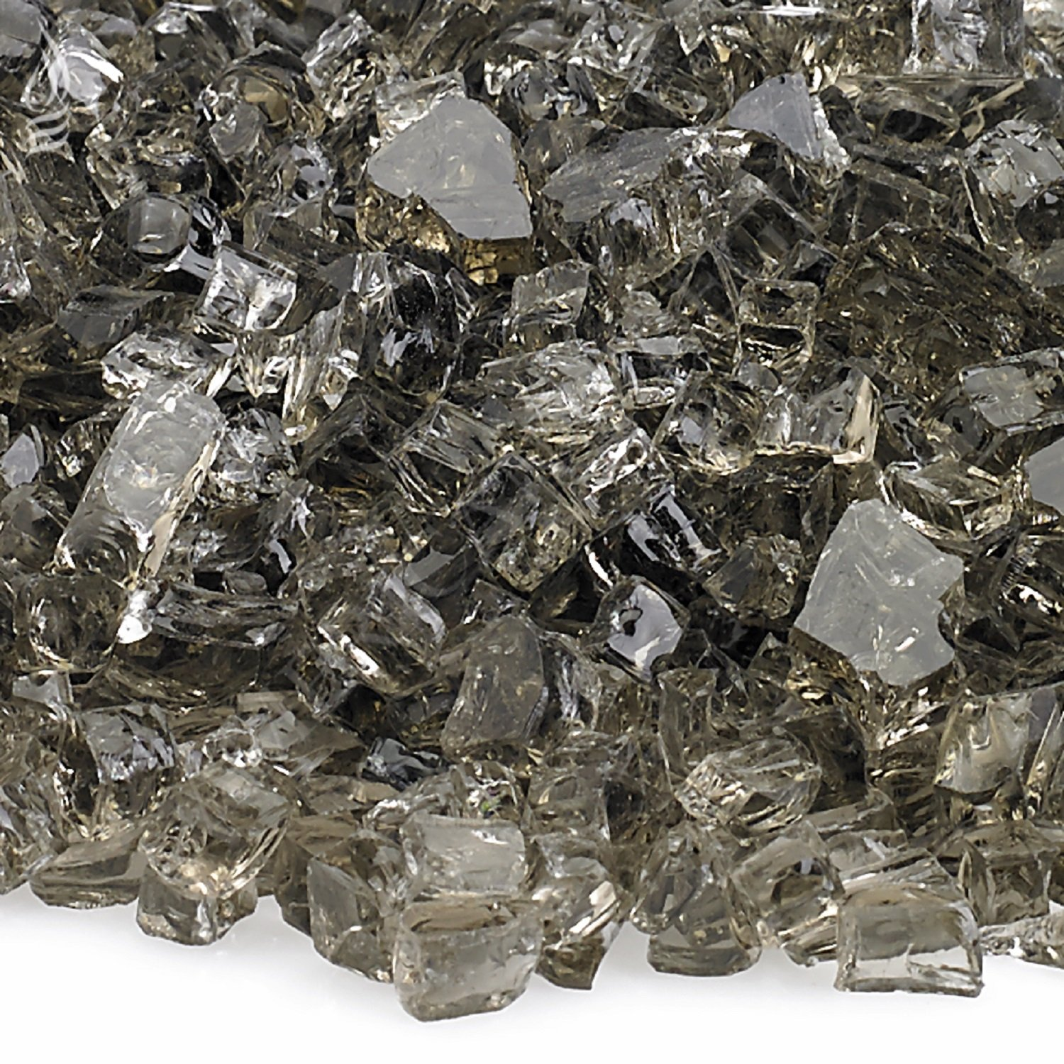 American Fireglass 10-Pound Fire Glass with Fireplace Glass and Fire Pit Glass, 1/4-Inch, Bronze