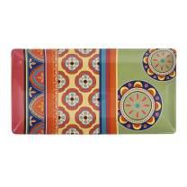 """Bico Tunisian Ceramic 18"""" Rectangular Serving Platter, Microwave & Dishwasher Safe"""