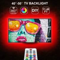 TV LED Backlights, Micomlan 11.48ft(3.5M) Led TV Backlight Kit with Remote for 40-50 Inch TV, 18 Colors 5050 RGB Led TV Light Strip, Color Changing TV Led Strip Lights for Monitor, Home, Bedroom