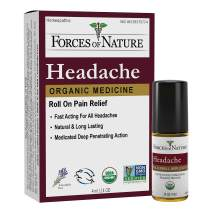 Forces of Nature – Natural, Organic Headache Pain Care (4ml) Non GMO, No Harmful Chemicals -Relief for Tension, Stress and Anxiety Associated with Headaches, Migraines, Sinus and Hangovers
