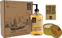 Holiday Joy Body Wash and Candle Gift Set, The Right to Shower