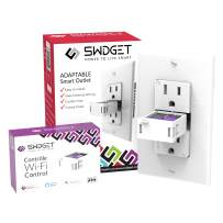 Swidget Smart Outlet (15Amp) with Wi-Fi, Control the Outlet from your Smart Phone & Monitor Energy (works with Alexa, IFTTT, Google Assistant, Google Home and more) to Make Your Home a Smart Home
