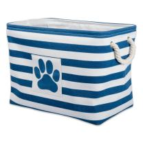 """DII Bone Dry Small Round Pet Toy and Accessory Storage Bin, 12""""(Dia) x9(H), Collapsible Organizer Storage Basket for Home Décor"""