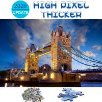 Funnlot Jigsaw Puzzles 1000 Pieces for Adults Jigsaw Puzzle Tower Bridge Large Piece Jigsaw Puzzles for Seniors Stay at Home Activity Family Game Artwork
