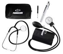 Primacare DS-9198 2-in-1 Medical Blood Pressure Kit with Stethoscope & Penlight with LED Light Bundle | Professional Manual Sphygmomanometer w Air Release Valve | Reusable LED Pen Light w Pupil Gauge
