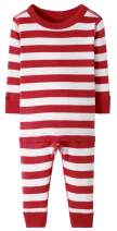 Hanna Andersson Baby/Toddler 2-Piece Organic Cotton Pajama Set Hanna Red/Hanna White-75