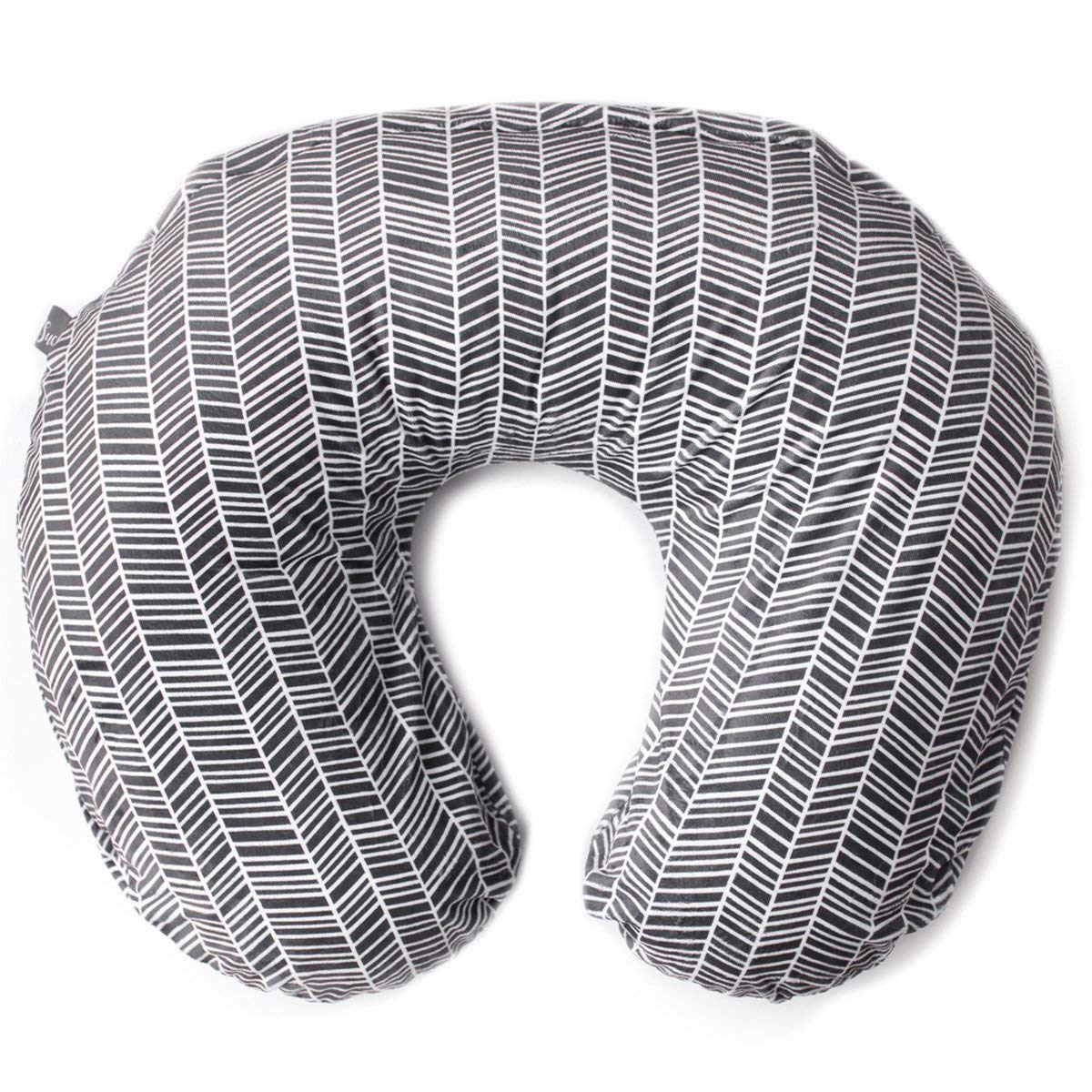 Minky Nursing Pillow Cover | Herringbone Pattern Slipcover | Best for Breastfeeding Moms | Soft Fabric Fits Snug On Infant Nursing Pillows to Aid Mothers While Breast Feeding | Great Baby Shower Gift