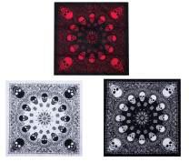 GERINLY 3pcs Men's Retro Bandana Scarf Stylish Paisley Pocket Squares Tie Dye Cowboy Wraps Headwraps for Hip Hop