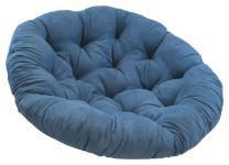 "Blazing Needles Solid Microsuede Papasan Chair Cushion, 52"" x 6"" x 52"", Indigo"
