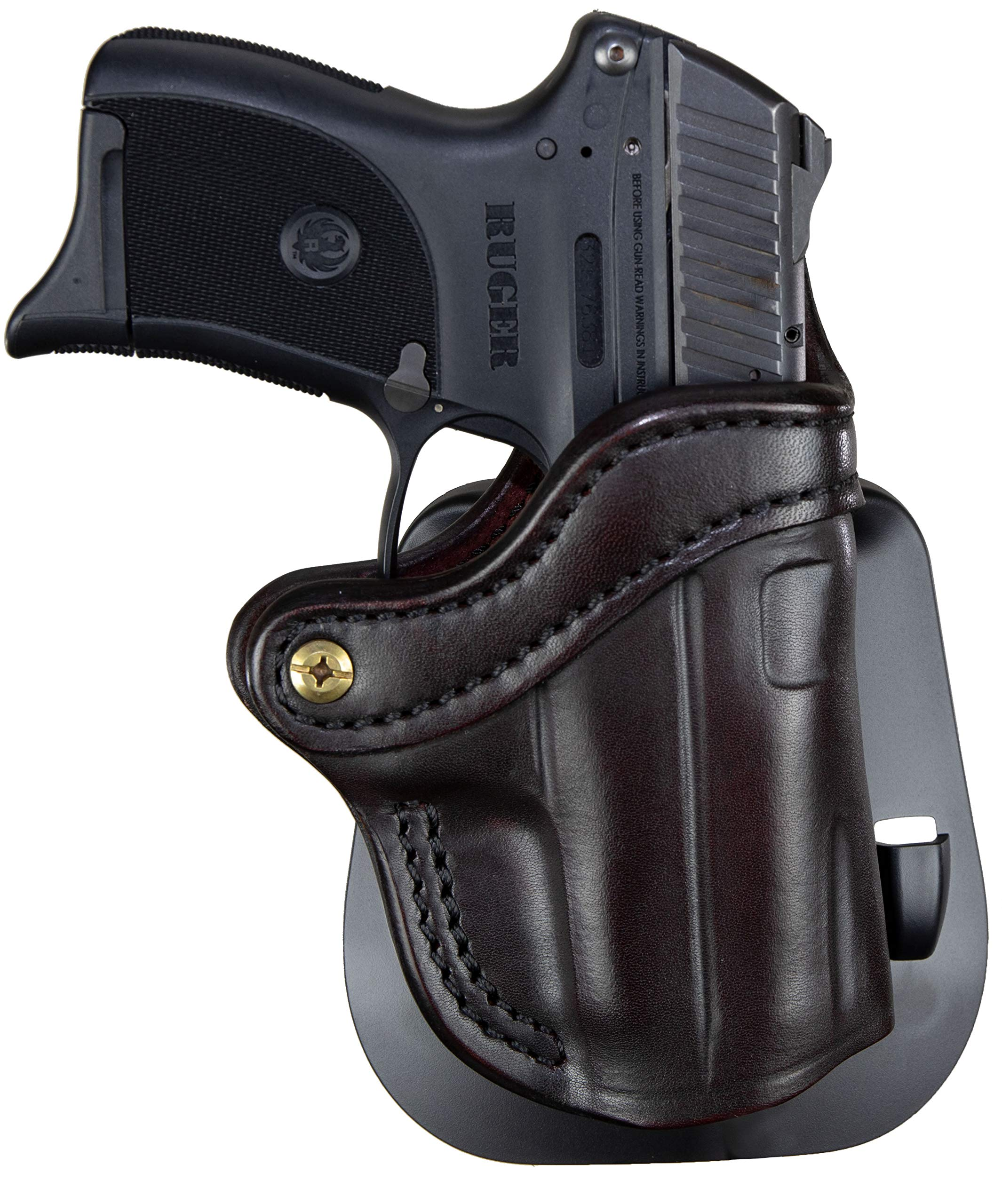 1791 GUNLEATHER Glock 43 Paddle Holster - OWB CCW G43 Holster - Right Handed Leather Gun Holster for Belts - Glock 43, Ruger LC9 and Ruger SR22