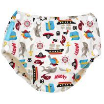 Charlie Banana Reusable Easy Snaps Swim Diaper, Pirate, Medium